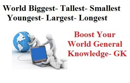 General Knowledge -World Largest Tallest Highest Smallest Longest- Global Info - GK | WELCOME TO MY WORLD OF MANY CAUSES | Scoop.it