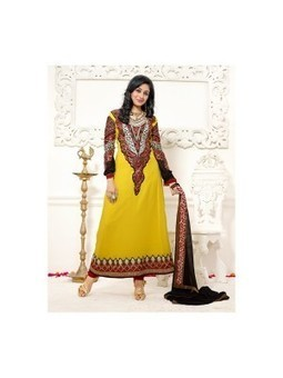 Online Latest Jodha Akbar Yellow Georgette Designer Anarkali Suit 9468 | Online Suit Salwar Kameez |  Suit Price| Suit Sale | Apparel | Women Suit | Scoop.it