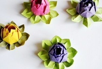 Origami Lotus Flower Tutorial » Craftori | Bazaar | Scoop.it