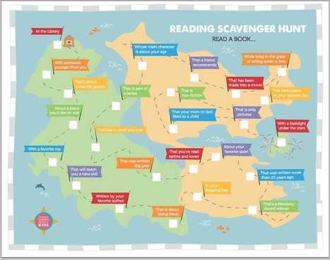Free Printable: Reading Scavenger Hunt - Modern Parents Messy Kids | Creating readers | Scoop.it