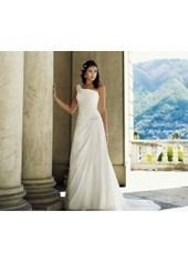 A Line One Shoulder Court Train Chiffon Ivory Wedding Dress H1ly0039 for $890 | Landybridal 2014 wedding dress | Scoop.it