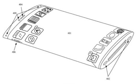 Apple  have a patent for an iPhone with a fully curved wrap around screen. | iPhone Related  News, Reviews & Gossip. | Scoop.it