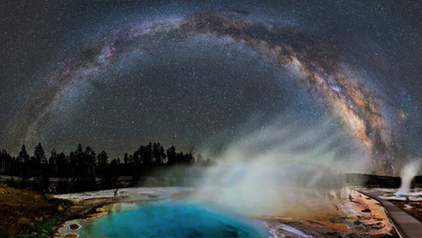 Amazing Photo Of The Milky Way Over Yellowstone's Alien Hot Springs - Gizmodo Australia   Inspirational Photography to DHP   Scoop.it