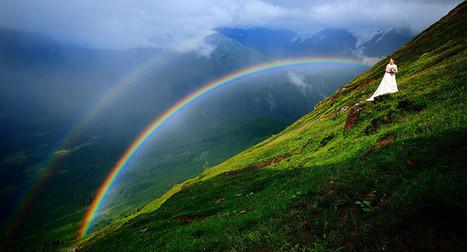 Double Rainbow Wedding Photo Is Breathtakingly Beautiful - Huffington Post | Naturally Beautiful Weddings | Scoop.it
