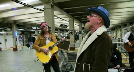 No one recognized U2, in disguise, busking in a subway station | Wandering Salsero | Scoop.it