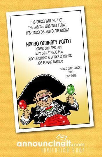 Mariachi Guy Cinco de Mayo Party Invitations | Party Invitations | Scoop.it
