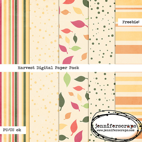 Harvest – Freebie Digital Paper Pack | Free Digital Scraps | Scoop.it