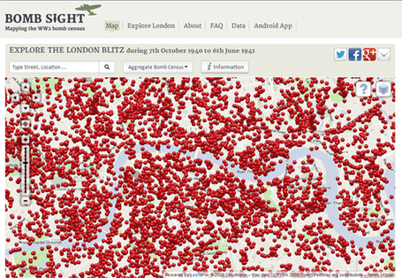 An Interactive Map of the Blitz: Where and When the Bombs Fell on London | Geography Education | Scoop.it