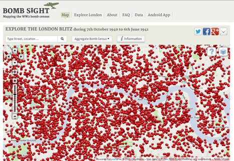 An Interactive Map of the Blitz: Where and When the Bombs Fell on London | Geography 400 at ric | Scoop.it