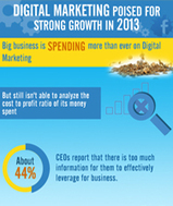 Growth of digital marketing in 2013 [Infographic] | Advertising, Interactivity & Design | Scoop.it