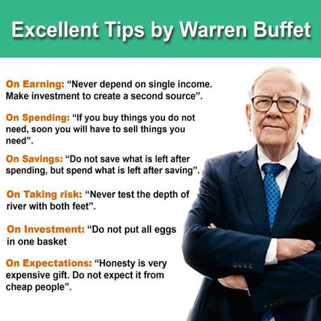 Startup & Life Tips From Warren Buffet | CAEXI Expertises | Scoop.it