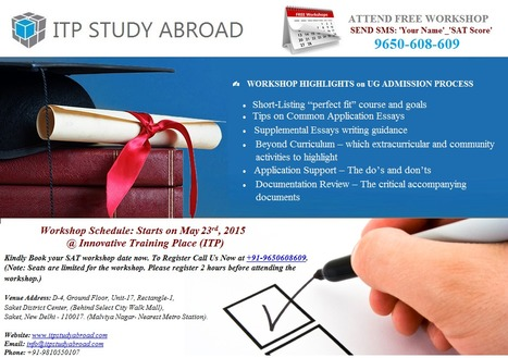 ITP Study Abroad: Best Overseas Education Consultants in Delhi Gurgaon Noida India US   MBA in USA   MS IN USA   Scoop.it
