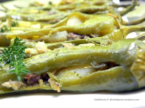 Friggitelli ripieni con salsa all'acciuga e vino bianco (Finger Food, Antipasto o Secondo)   VitaDiGusto.IT   Scoop.it
