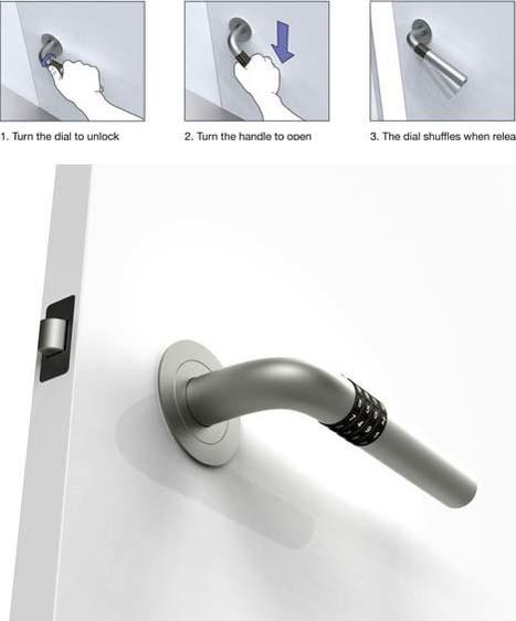 Dial-a-Door: Key-Free Home Entry via Built-In Handle Locks | Art, Design & Technology | Scoop.it
