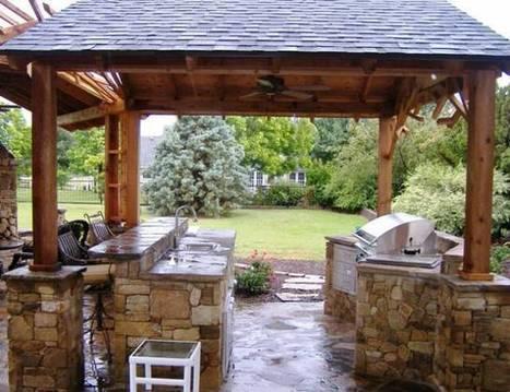 Stone Outdoor Kitchen Ideas   Rhinway- home design   Scoop.it