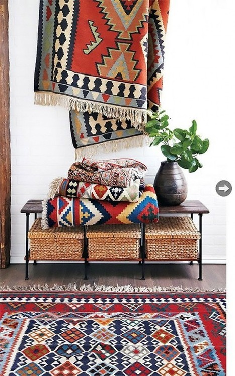 Kilim Rugs - Global Decor - Home Trend | Designing Interiors | Scoop.it