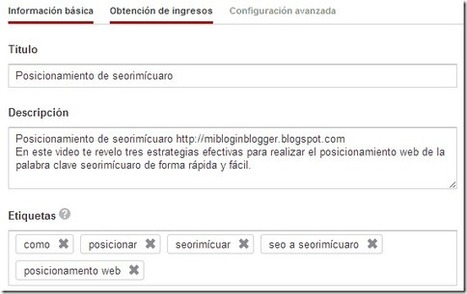 Seo para videos - Mi Blog en Blogger seorimícuaro | SEO y Posicionamiento | Scoop.it