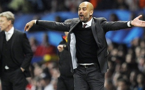 Manchester United v Bayern Munich: Pep Guardiola ruffled by reporter saying 'look at me when I talk to you'  - Telegraph   Manchester United   Scoop.it