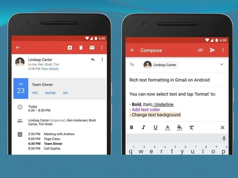 Gmail Android App Brings Rich Text format and Instant RSVPs | GoToWebsites | Scoop.it