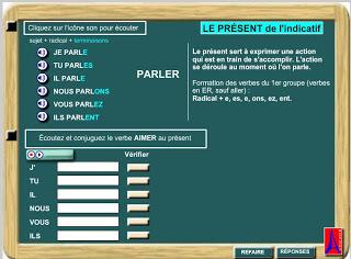 Le JEU des VERBES (Le présent de l'indicatif) - exercice format Flash (swf) | FLE | Scoop.it