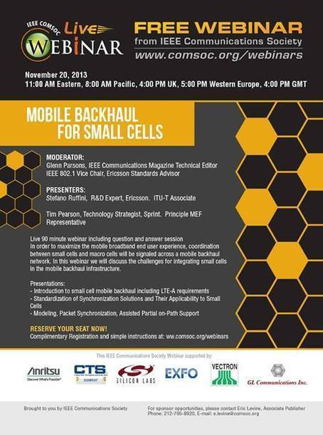 "Timeline Photos - IEEE Communications Society | Facebook | ""LTE - Small-Cell News"" 