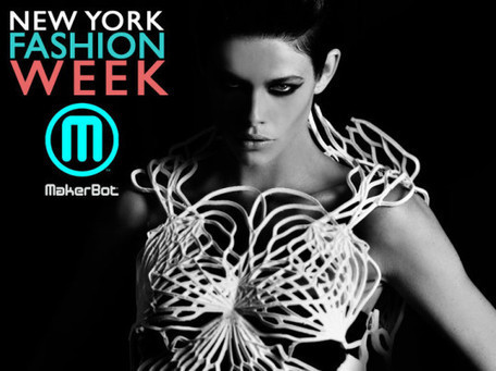 """MakerBot Unveils 3D-Printed """"Flexible Filament"""" Dress at New York Fashion Week 