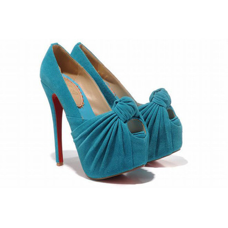 Christian Louboutin 20 Years Lady Gres 160mm Suede Pumps Sky Blue | new and fashion list | Scoop.it