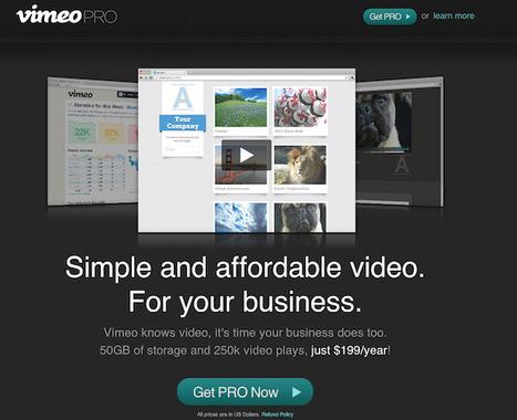 Vimeo lance un service d'hébergement vidéo pour la petite entreprise | Descary.com | Veille_Curation_tendances | Scoop.it