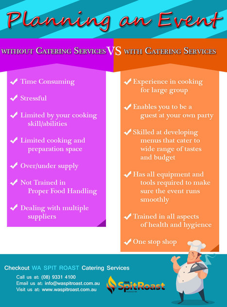 Planning an Event: Without Catering Services vs With Catering Services | Spit Roast Perth | Scoop.it