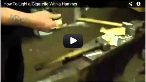 Video: golpes de martillo, elevan la temperatura, tanto como para encender un cigarro   energias   Scoop.it