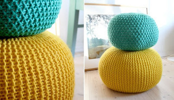 DIY : un pouf en tricot! | DIY DIY | Scoop.it