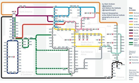 How the world's internet would look if it was a TUBE map | Everything from Social Media to F1 to Photography to Anything Interesting | Scoop.it