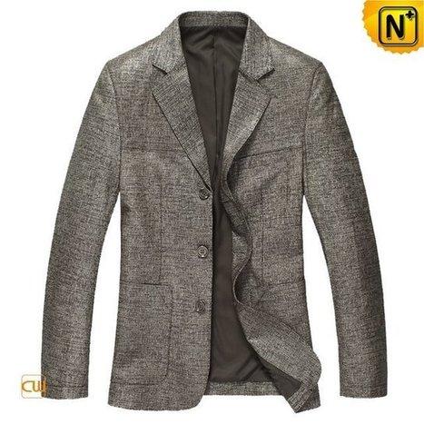 Mens Italian Leather Blazer Leather Coat CW814132 | Leather Blazer Jacket | Scoop.it