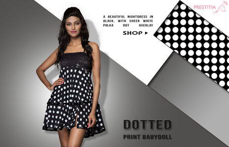 Black Printed Babydoll Dress | buy nightwear online india | Scoop.it