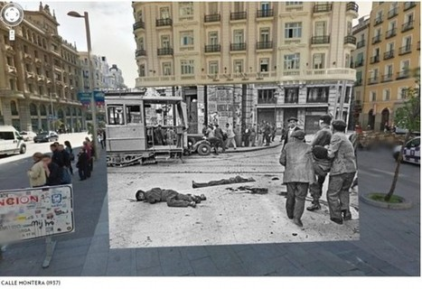 Fotos de la Guerra Civil española mezcladas con las de Google Street View | Entornos educativos | Scoop.it