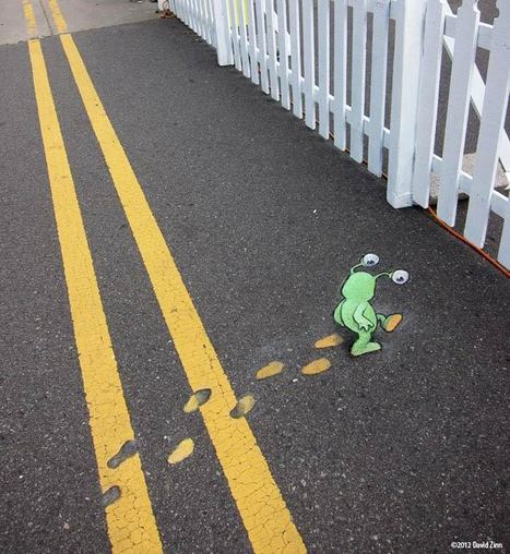 Chalk Street Art – 29 adorables créations de David Zinn ! | Ufunk.net | La musique en long, en large, en travers | Scoop.it