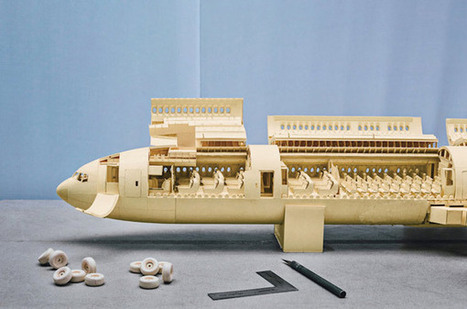 Boeing 777 Made Out of Paper Manilla Folders | Design Inspiration and Creative Ideas | Scoop.it
