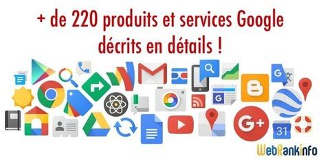 Encyclopédie des produits et services de Google - WebRankInfo | Pep'up convergence | Scoop.it