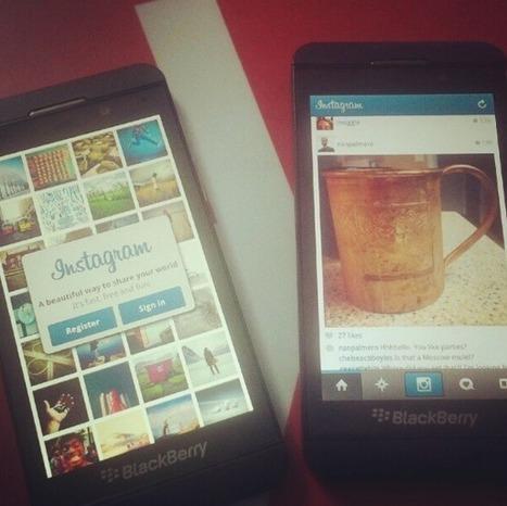 Blackberry Z10 - Instagram arrive bientôt sur Blackberry 10   korytek training   Scoop.it