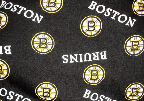 Boston Bruins cotton fabric remnant for sports crafts two piece by ilPiccoloGiardino | Boston, you're my home | Scoop.it