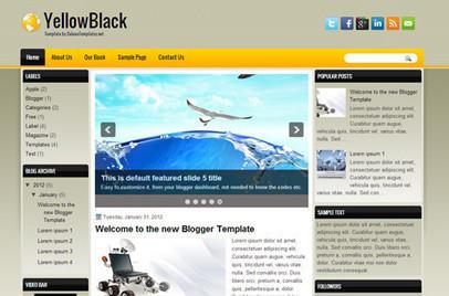 YellowBlack | Blogger themes | Scoop.it