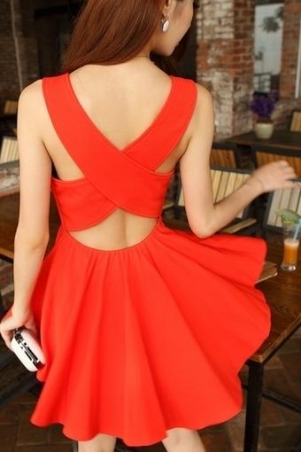 Cross-over Back Mini Dress - OASAP.com | Sweet Lolita | Scoop.it