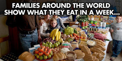 Families Around The World Show What They Eat In a Week…   HCS Learning Commons Newsletter   Scoop.it