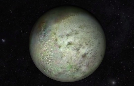 Fly Past Neptune's Moon Triton in this Video Made from Real Pictures Shot by Voyager 2 in 1989