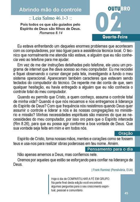 Leitura do Dia - Guia Devocionário de Encontro com Deus - no Cenáculo | Geral | Scoop.it