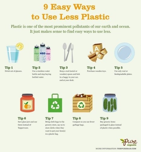 9 Easy Ways to Use Less Plastic [Infographic] | Go Green and help the Planet! | Scoop.it