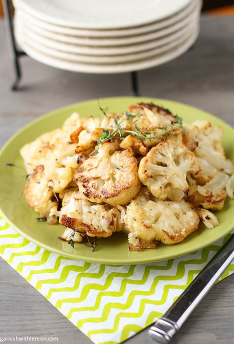 Parmesan Roasted Cauliflower - Garnish with Lemon | Gardening is more than Digging the Dirt | Scoop.it