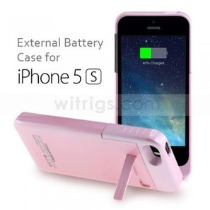 2200mAh Power Jack External Battery with Stand Case for Apple iPhone 5S Pink - Witrigs.com   Gadgets & Professional Repair Tools for smartphones   Scoop.it