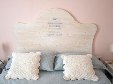 Testata del letto personalizzata shabby chic - Testata letto fai da te ...