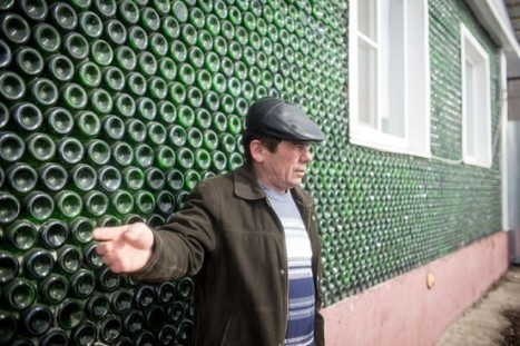 Russian Man Builds House with 12,000 Bottles of Champagne | Strange days indeed... | Scoop.it